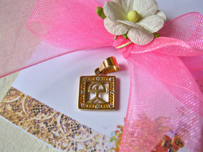 Indalo jewellery ~ 18ct gold & zirconite square