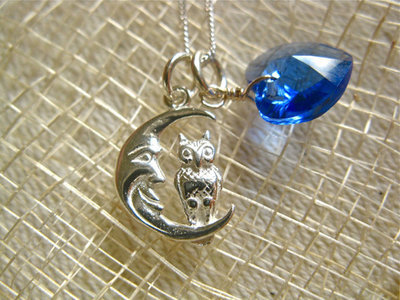 Guardian owl necklace ~ 2-part, silver