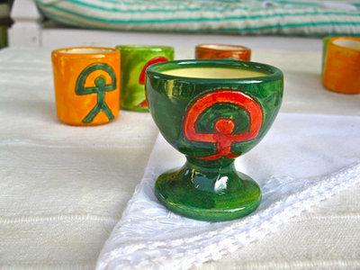 Ceramic egg cup ~ Indalo