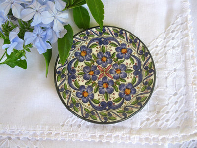 Spanish Wall Plate ~ Cuenca, floral