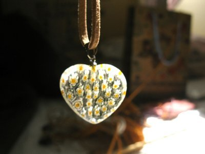Heart necklace ~ daisy glow