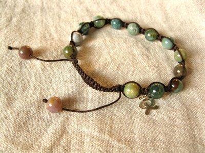 Shamballa bracelet ~ Indian agate + Indalo for wellness