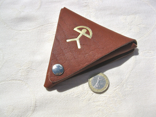 Spanish Leather Purse ~ Indalo triangle, large