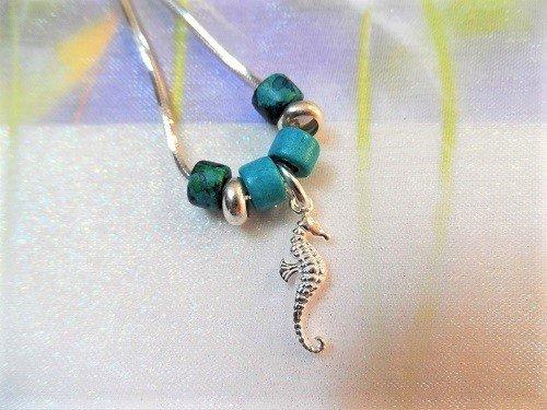 Mediterranean lucky seahorse necklace