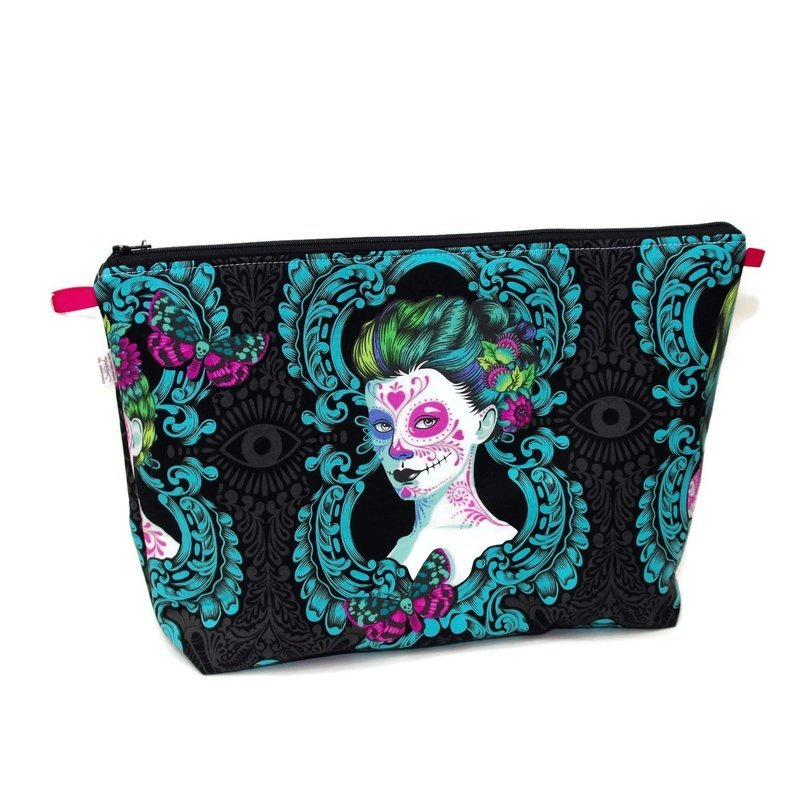 Day of the Dead - Possessed in Aqua - Large Wedge