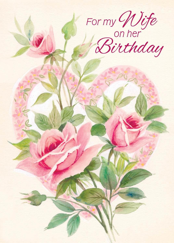 Fr0339 Family Birthday Card Wife