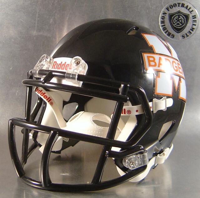 McCamey Badgers HS 2016 (TX) - mini-helmet