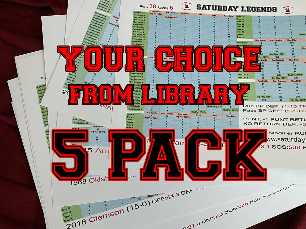 Custom 5-pack (SL Library)