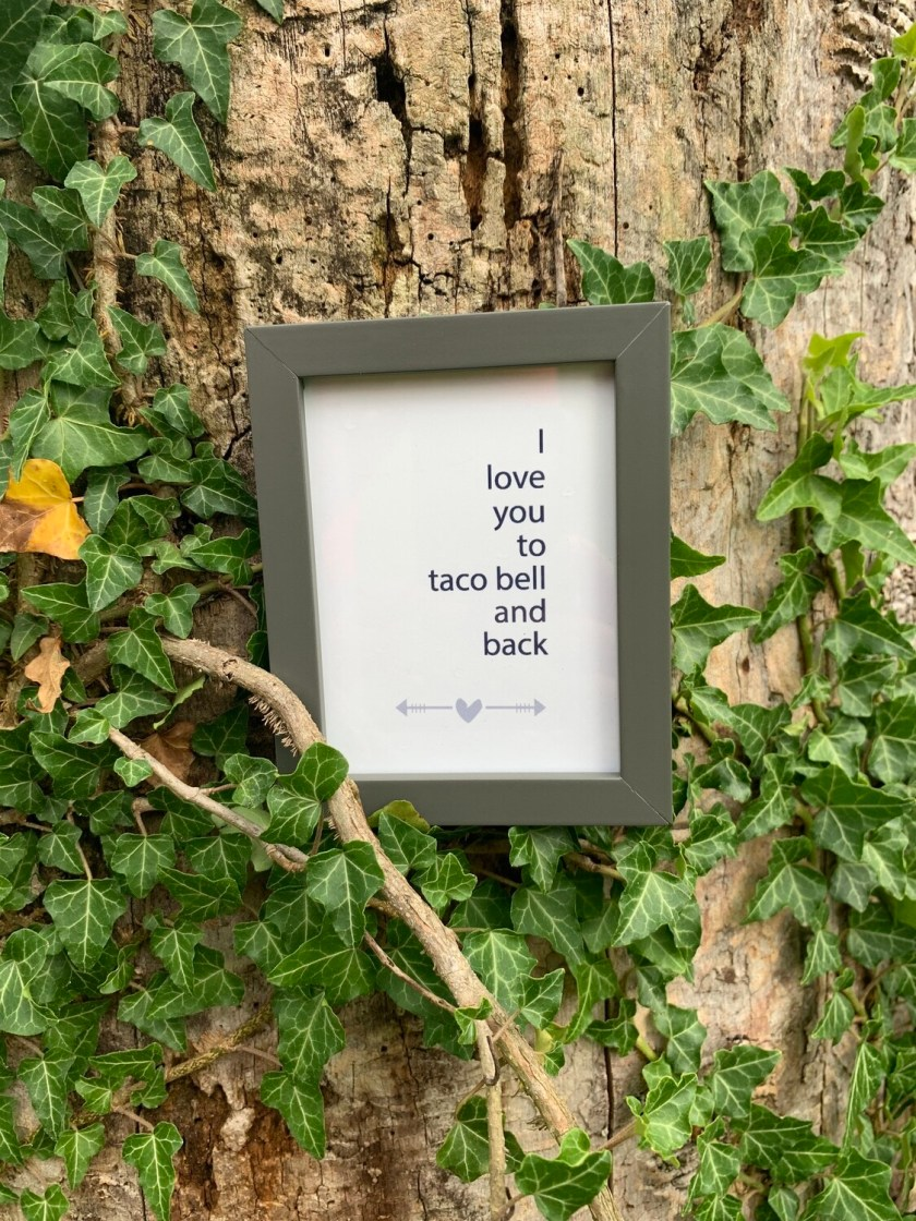 | i love you to taco bell and back | mini |