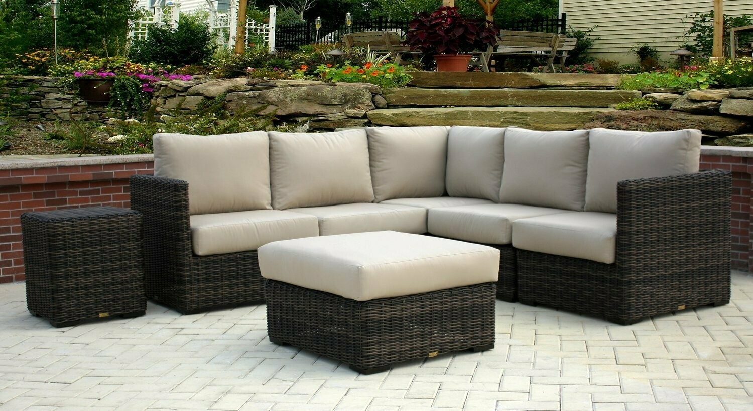 greenville sectional outdoor wicker patio furniture
