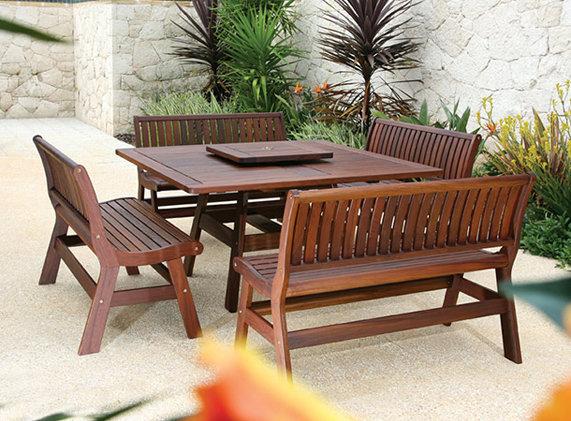 amber dining ipe wood patio furniture