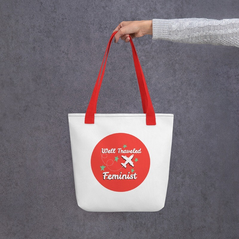 A Well-Traveled Feminist Tote Bag