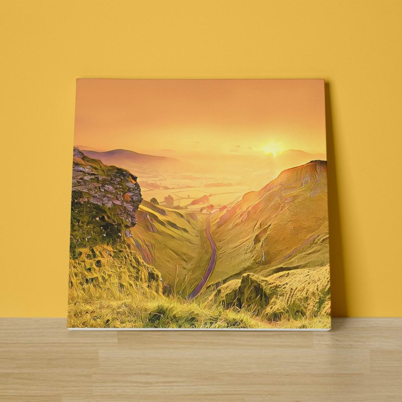 Winnats Pass Sunrise Canvas Print