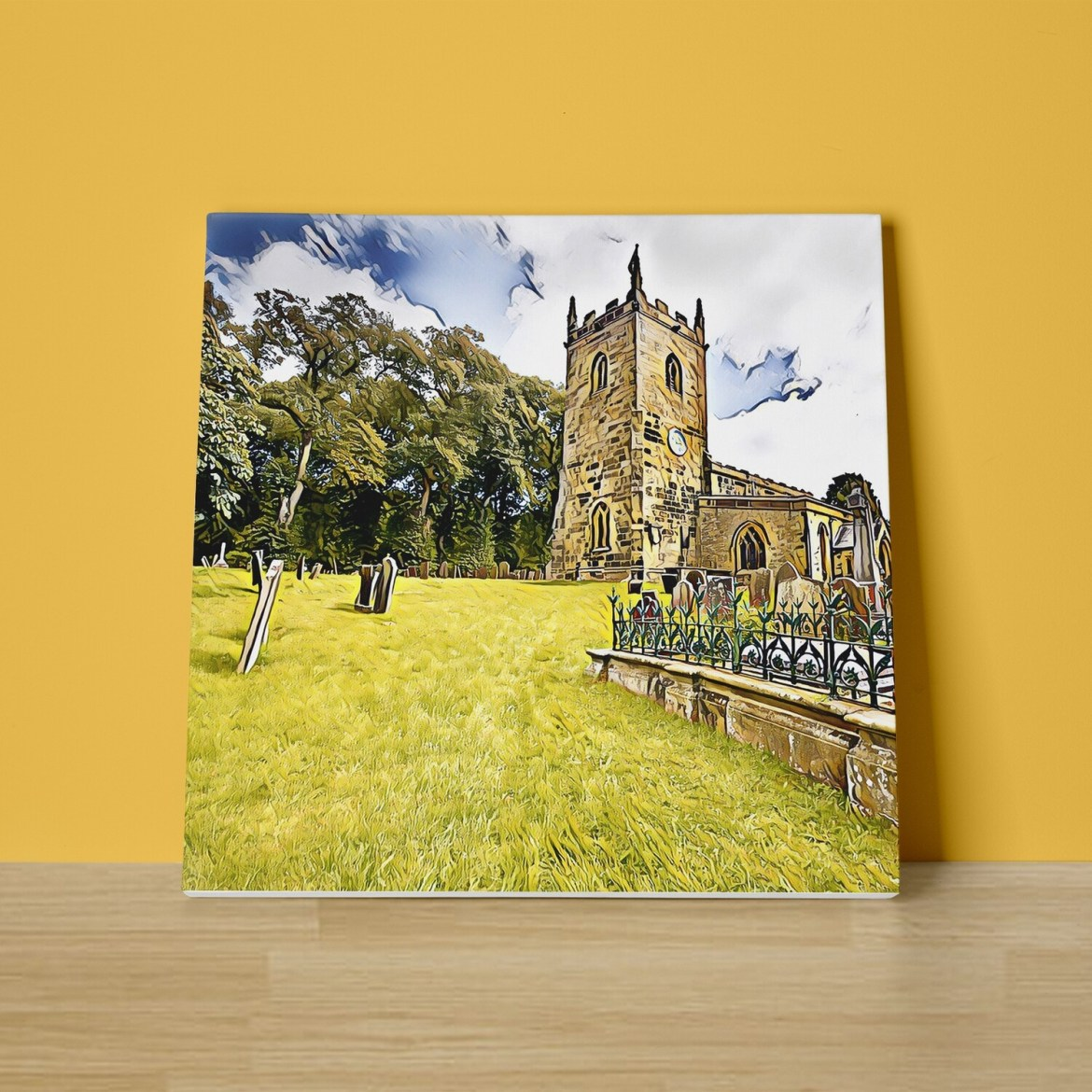 A Country Churchyard Canvas Print