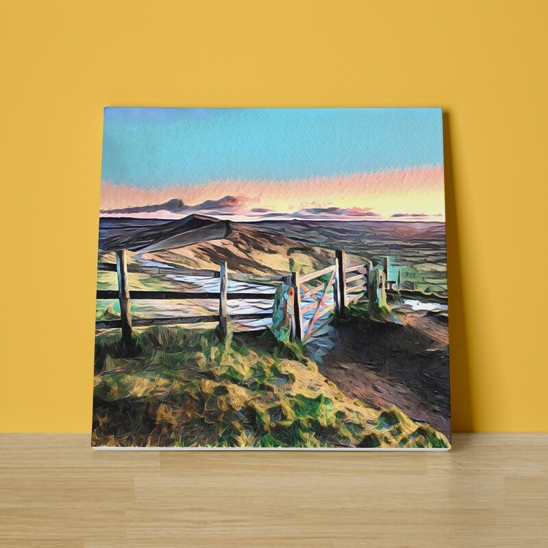 Mam Tor Sunset Canvas Print