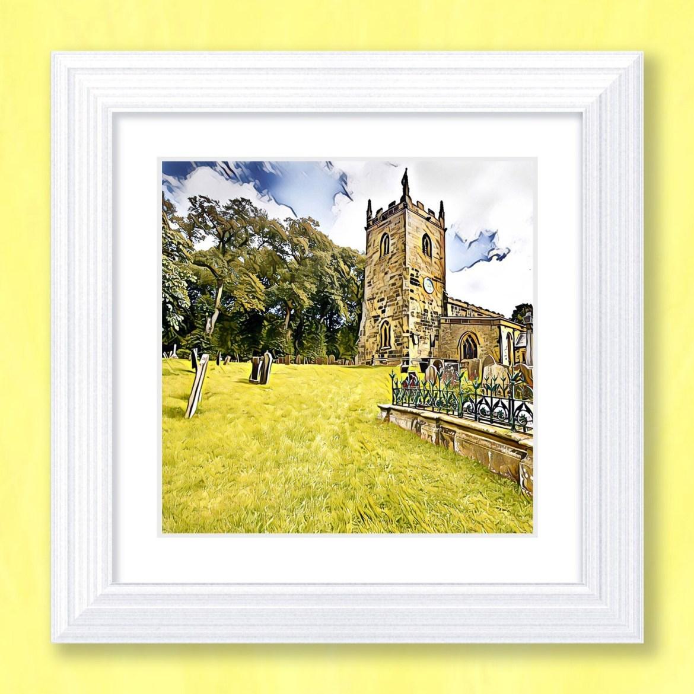 A Country Churchyard Art Print