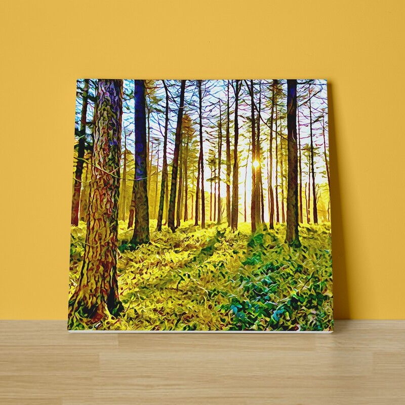 Walking into the Sunlight Canvas Print