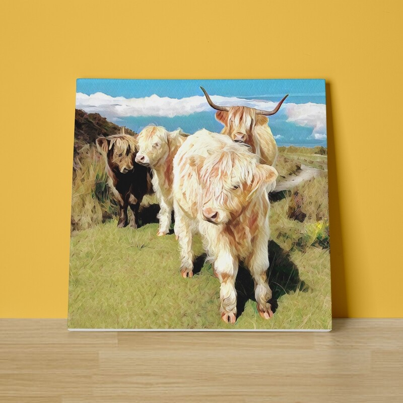 The Highland Family Canvas Print