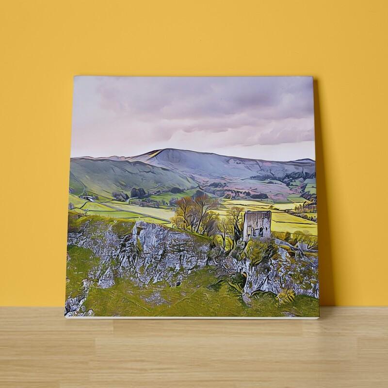 Peveril Castle Canvas Print