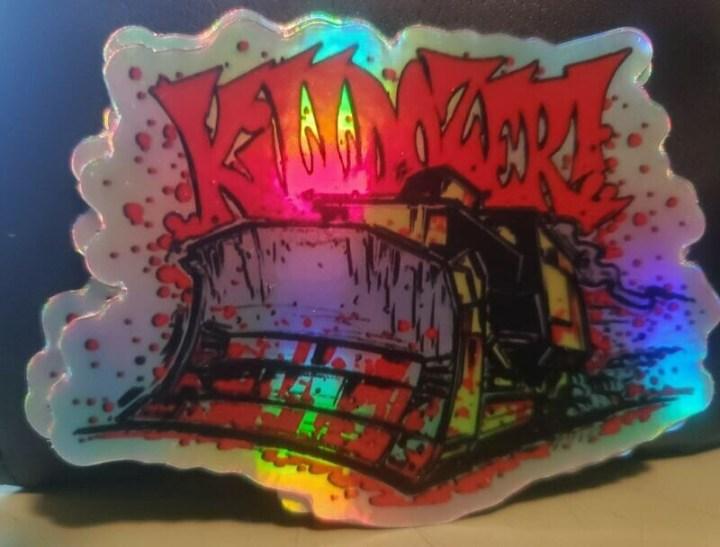 The Killdozer Sticker - Art by GOODE