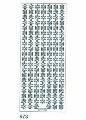 White Snowflake Border Sticker