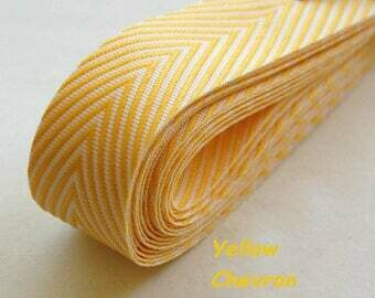 Yellow Herringbone