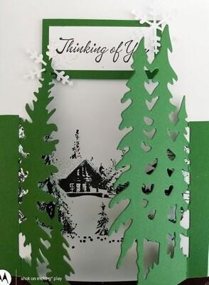 Winter Scene Card Kit