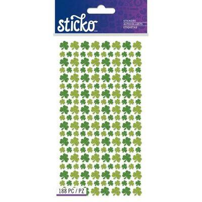 Glitter Shamrocks Stickers