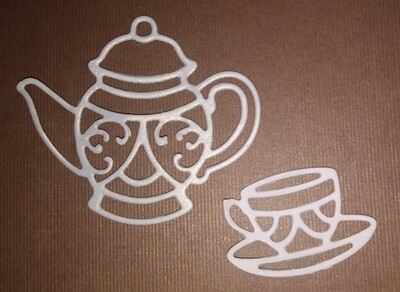 Teapot and Cup Die Cuts