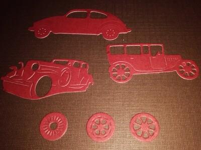 Antique Cars Die Cuts