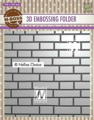 3d Brick Wall Embossing Folder