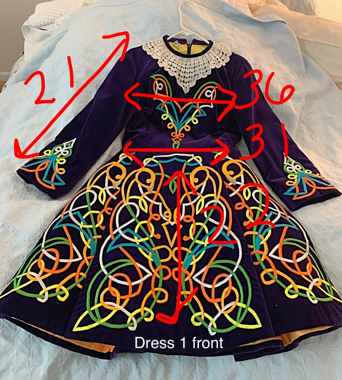 Vintage Irish Dance Dress 00096