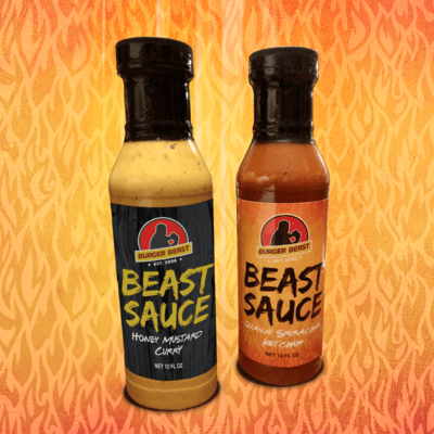 PREORDER - 1 Bottle of Honey Mustard Curry & 1 Bottle of Guava Sriracha Ketchup