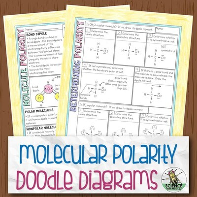 Molecular Polarity Chemistry Doodle Diagram Notes