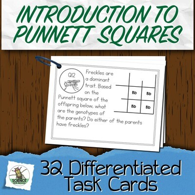 Intro to Punnett Square Task Cards