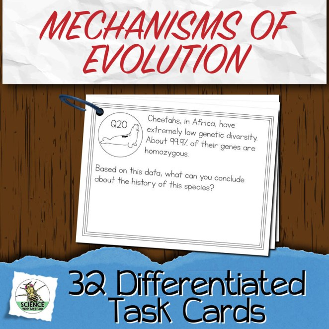 Mechanisms of Evolution Task Cards