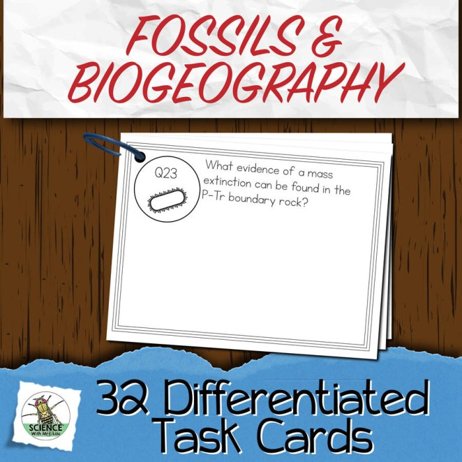 Fossils and Biogeography Task Cards
