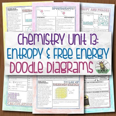 Chemistry Unit 13 Entropy and Gibbs free energy Doodle Diagrams