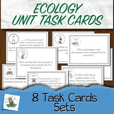 Ecology Task Card Unit