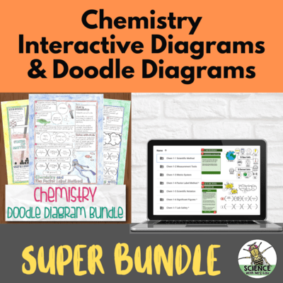 Chemistry Interactive Diagrams AND Chemistry Doodle Diagram Notes Super Bundle