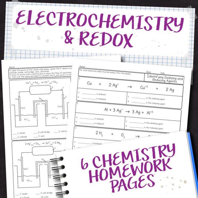 Chemistry Unit 16: Electrochemistry Homework Pages