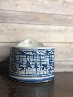 Vintage Pottery, stoneware, salt box
