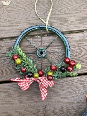 Farmhouse Christmas Wreath, Rustic Christmas Decor