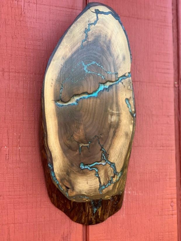Live Edge Wood Wall Art, Black Walnut