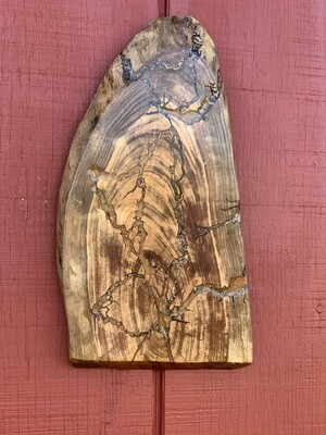 Live Edge Wood Wall Art, Black Cherry