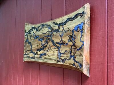 Live Edge Wood Wall Art, Rustic Wall Art, Epoxy Resin