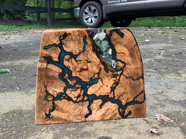 Live Edge Walnut, Rustic Wall Art