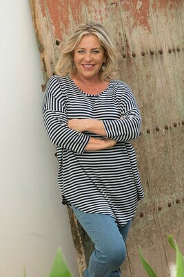 KASBAH Kaley - Stripe Jersey Knit Top
