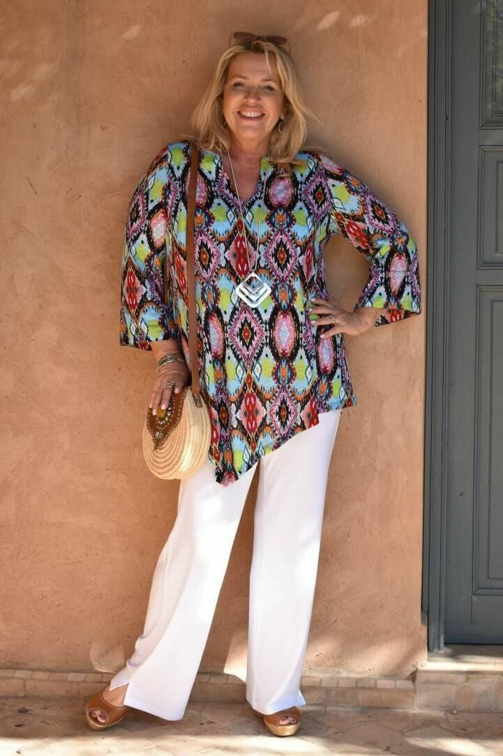 Paloma - White Jersey long Trousers