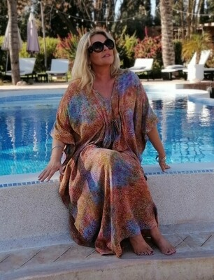 Kesi -  Kaftan with adjustable tie front